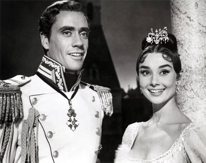 Одри Хепберн и её супруг Мел Феррер в голливудской экранизации романа «Война и мир», 1956 год