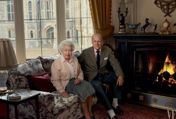 Королевская чета - Елизавета II и ее супруг Филипп