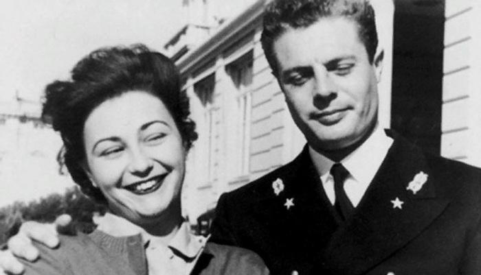 Марчелло Мастроянни со своей супругой Флорой
