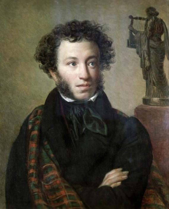О. Кипренский. Портрет Пушкина, 1827 г.
