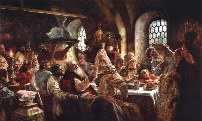 Константин Маковский, Боярский свадебный пир в XVII веке. 1883, Музей Хилвуд, Вашингтон, США