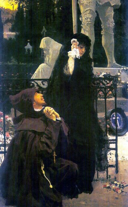 Дон Жуан и донья Анна на картине И. Е. Репина