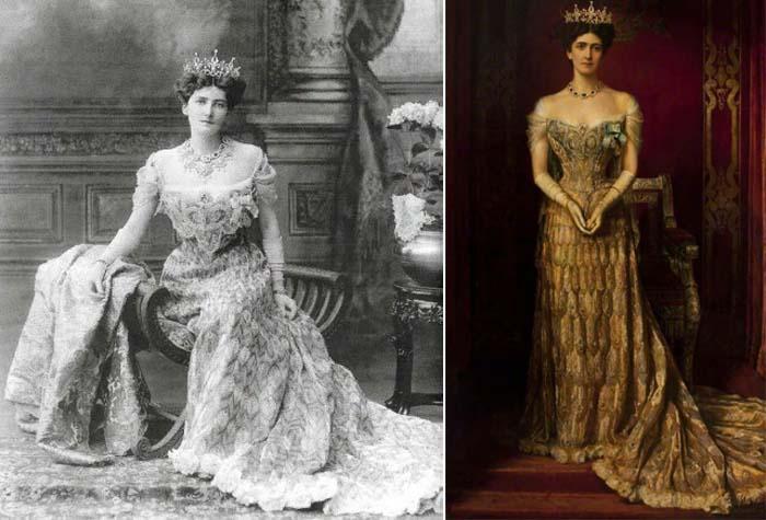 Платье леди Керзон, созданное мастерами зардози