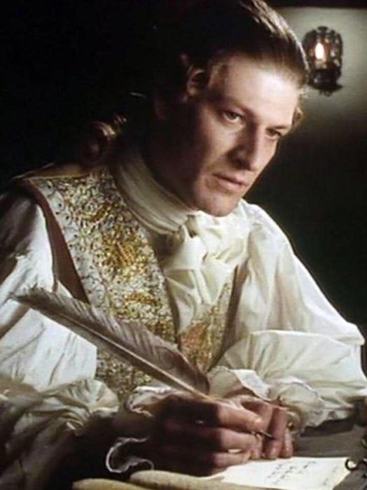 Шон Бин в роли Ловеласа, кадр из к/ф «Кларисса», 1991 г.