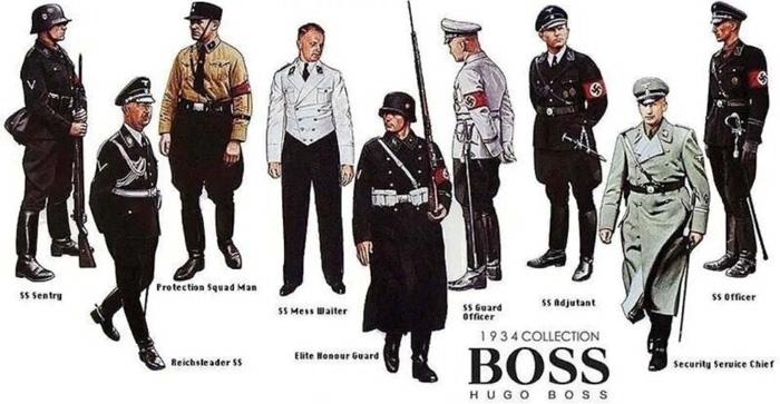 «Hugo Boss. Коллекция 1934 года». Растиражированные рекламные картинки являются на самом деле фейком – дизайном одежды компания в те годы не занималась