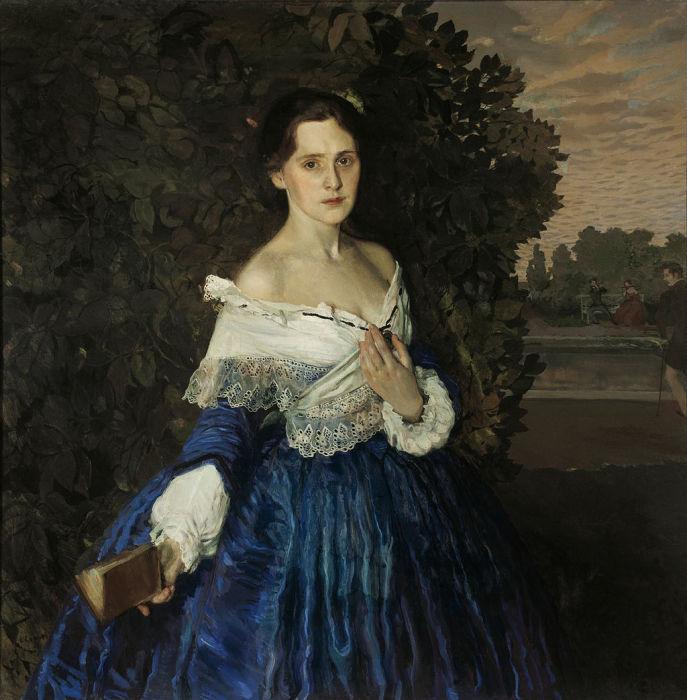 К.А. Сомов «Дама в голубом», 1897—1900 гг, Государственная Третьяковская галерея