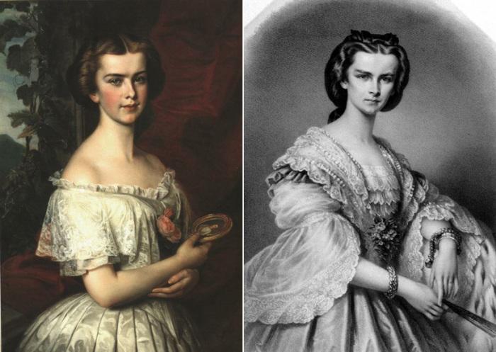 Юные сестры Елизавета и Елена Баварские