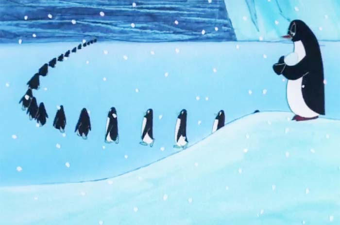 Кадр из м/ф «Пингвины», 1968 год