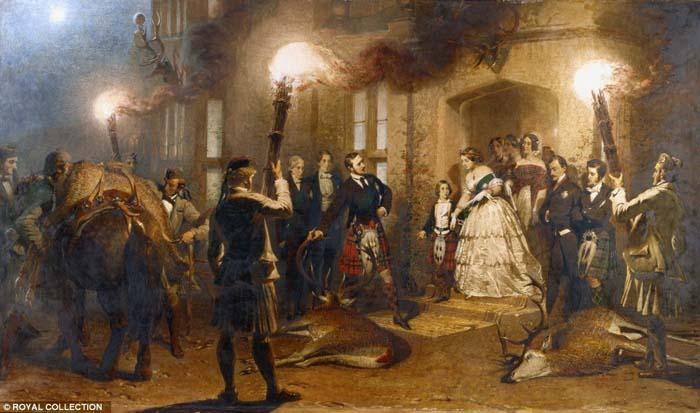 Карл Хаар «Вечер в замке Балморал», 1854 год