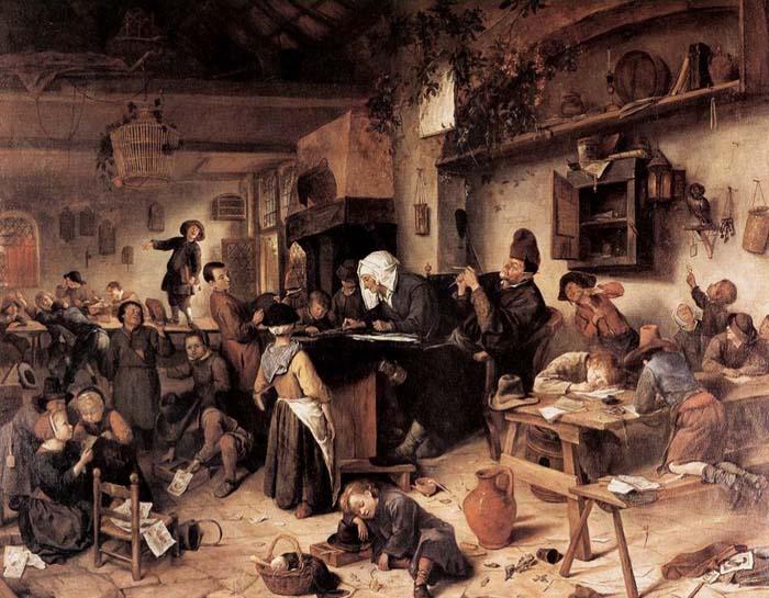 Ян Стен, «Школа для мальчиков и девочек», 1670 г.