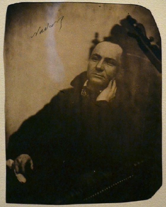 Феликс Надар. Портрет Шарля Бодлера. Около 1855 года