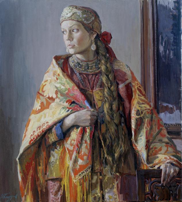 И. Глазунов, В каргопольском костюме