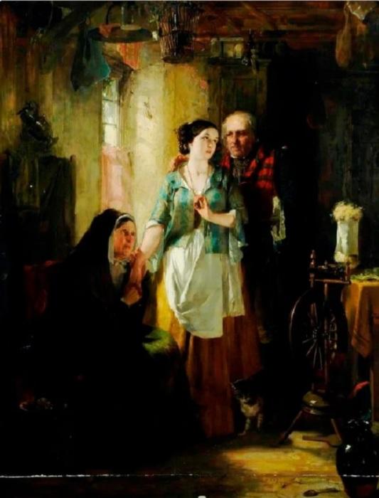 Томас Фаед «Старый Робин Грей», 1850 год