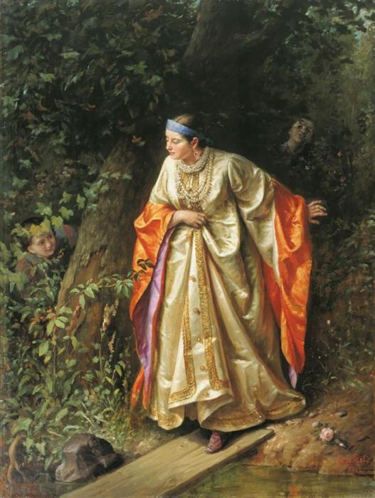 С.  Грибков, Прятки, 1893