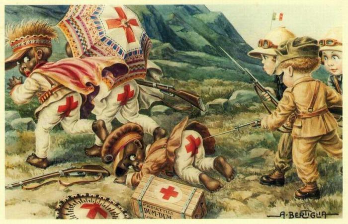 """Открытки времен итало-эÑ""""Ð¸Ð¾Ð¿ÑÐºÐ¸Ñ Ð²Ð¾Ð¹Ð½ пропагандировали «благородное» дело колонизации"""