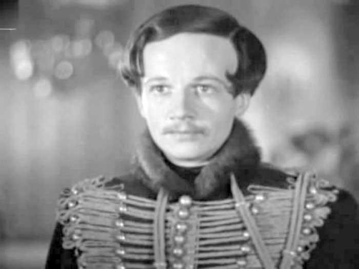 Алексей Консовский в роли Лермонтова, 1943 год