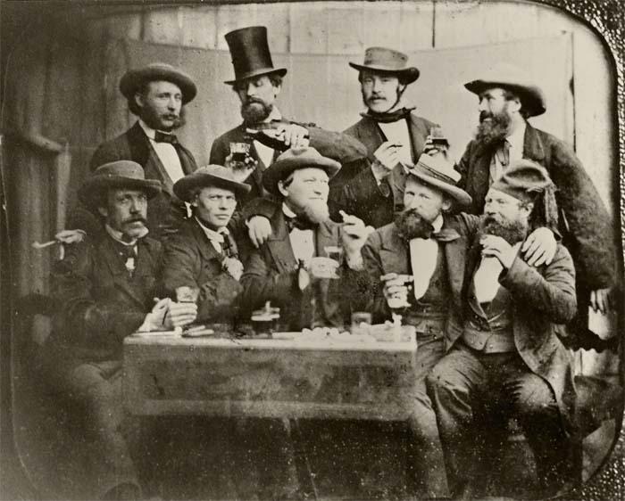 Группа художников на веранде, ок. 1893 года