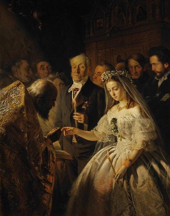 Василий Пукирев, «Неравный брак», 1862 г., Государственная Третьяковская галерея, Москва