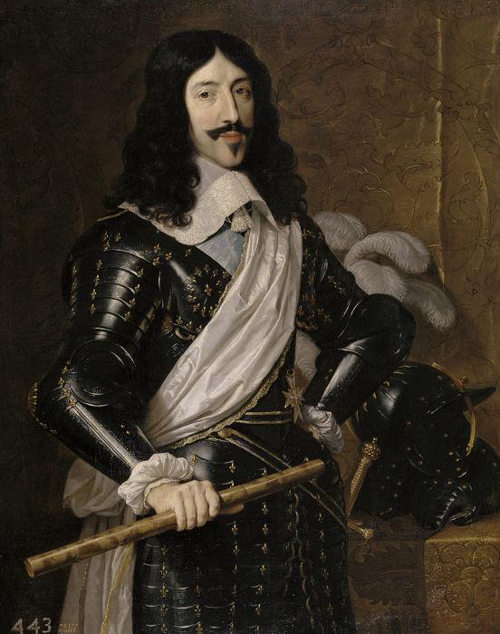 Людовик XIII, портрет работы Филиппа де Шампенья