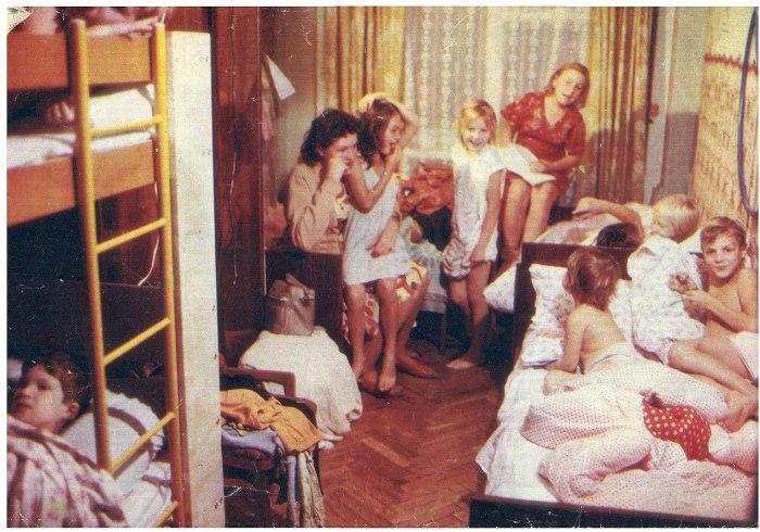 Семья Сорокиных в сентябре 1989 г. в квартире