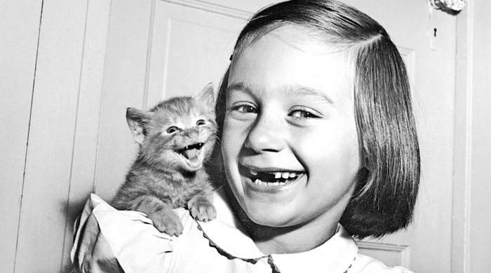 Снимок дочери фотографа Уолтера Шандоха с котенком
