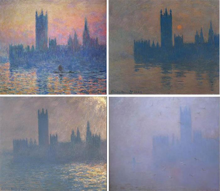 Картины Клода Моне – настоящий живописный график задымлений в Лондоне