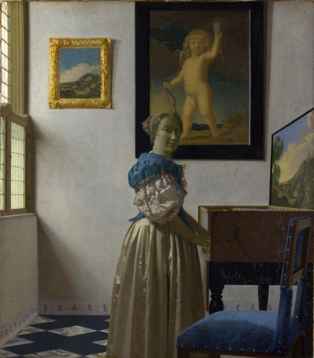 Ян Вермеер, «Дама, стоящая у вирджиналя» (1670-е), Национальная галерея, Лондон