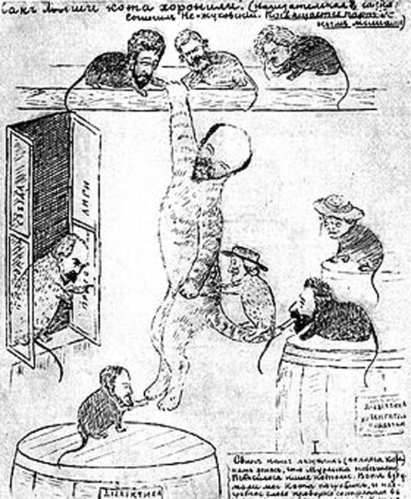 П. Н. Лепешинский. Как мыши кота хоронили, карикатура, 1903 год