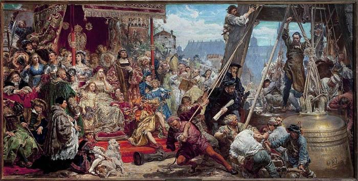 Установка Зигмунда, картина Яна Матейко