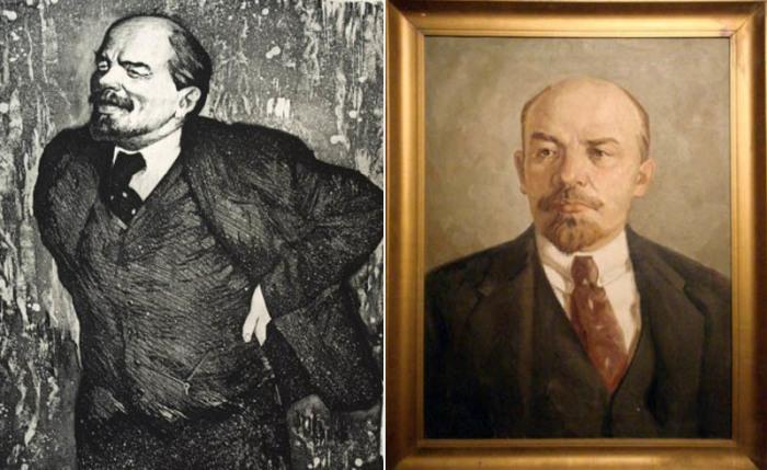 На всех портретах и скульптурах Ленин обычно изображался в однотипной одежде