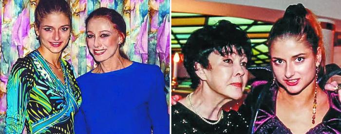 Анна со своими знаменитыми тётями: Майей Плисецкой и Беллой Ахмадулиной