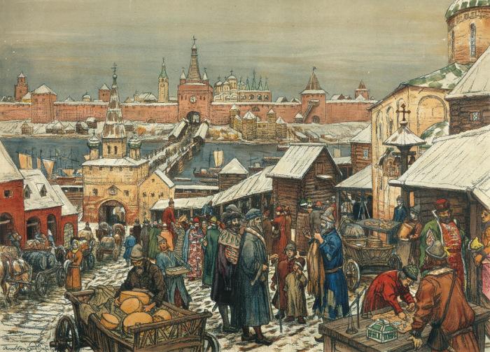 А.П. Васнецов, Новгородский торг