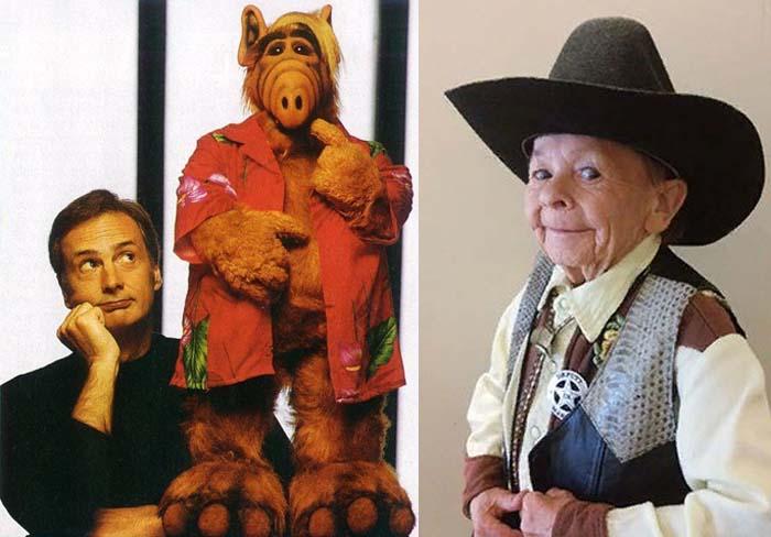 ол Фаско – создатель и главный кукловод Альфа и Михай Месарош – актер, игравший в кукле в полный рост