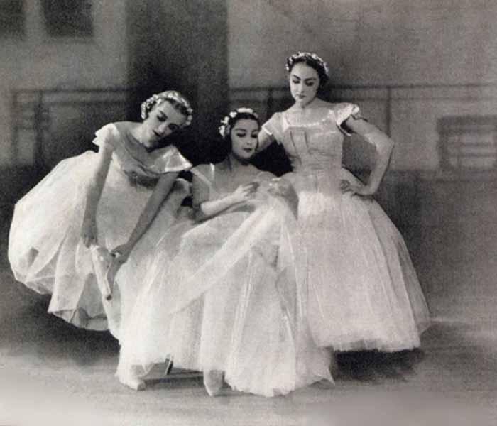 Татьяна Рябушинская, Тамара Туманова и Ирина Баронова - «бэби-балерины»