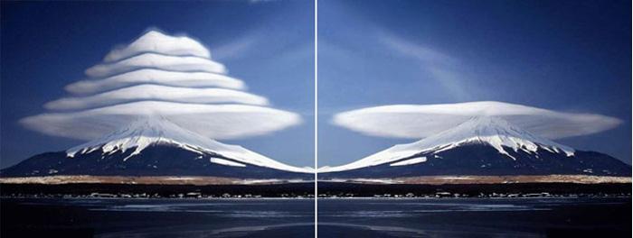 Одно линзовидное облако – это уже чудо, но штук пять – это уже настоящая сенсация… жаль, что не настоящая!