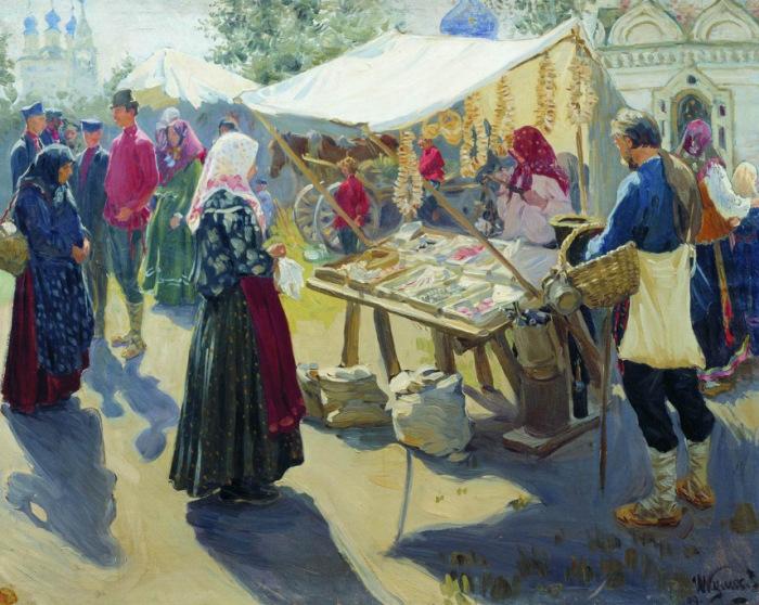 И.С.Куликов, Базар с баранками
