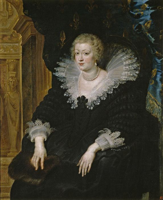 Анна Австрийская, портрет кисти Рубенса