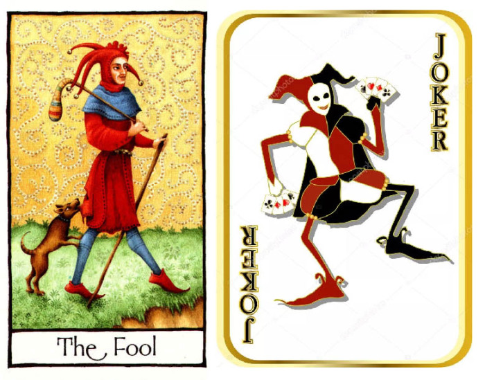 «Дурак» на картах таро и Джокер
