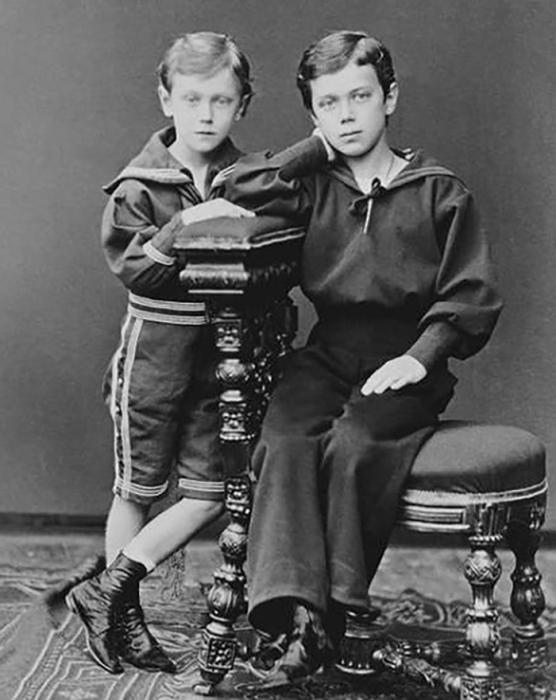 Юные Николай II и Георг V