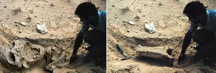 Мнимые археологические открытия – распространенная тема для фото-обманщиков