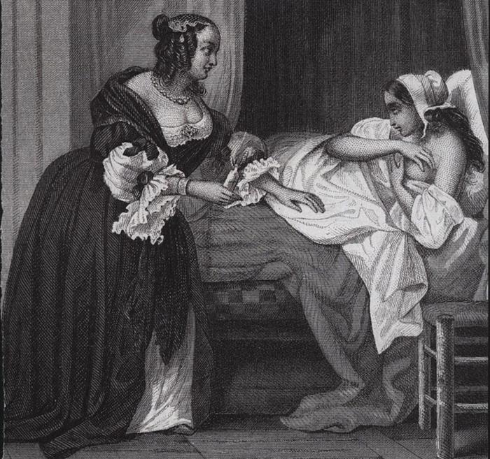 Мадам де Бренвилье, гравюра, 1854 г.