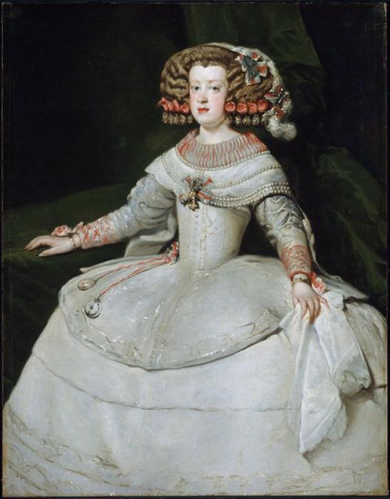 В XVI веке корсет придавал женской фигуре максимально строгий плоский силуэт