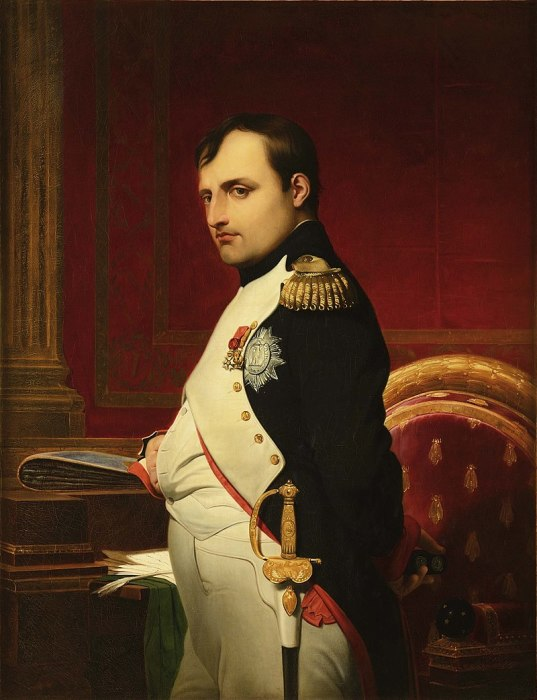 Наполеон I Бонапарт (1769–1821), портрет кисти Поля Делароша