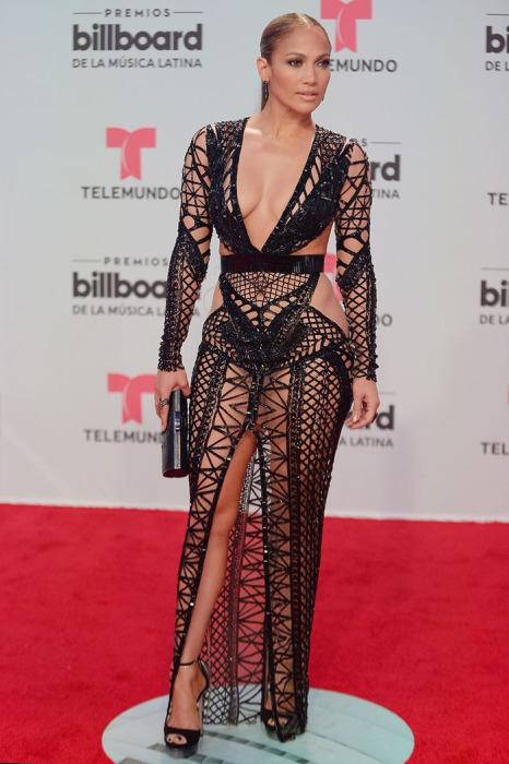 Актриса и певица Дженнифер Лопес на вручении премии Latin Billboard Awards в Майами, 2017 год