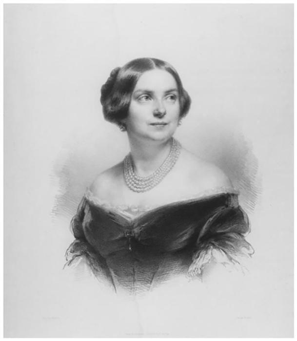 Портрет Генриетты Зонтаг в возрасте 40 лет