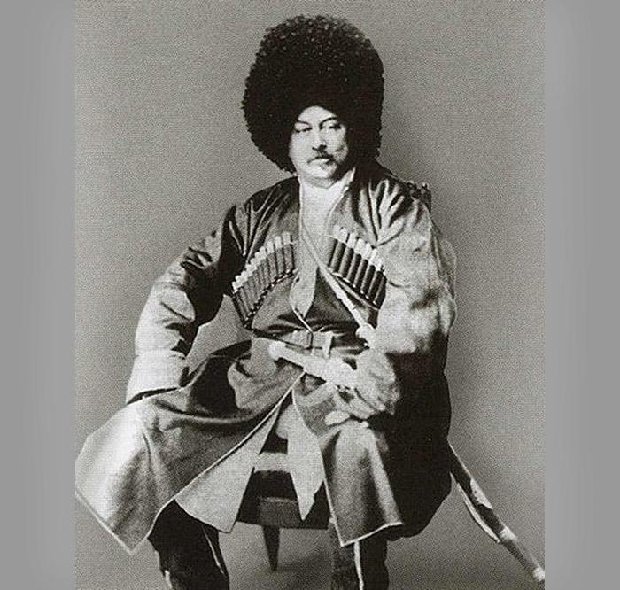 Александр Дюма в кавказском национальном костюме, 1859 год