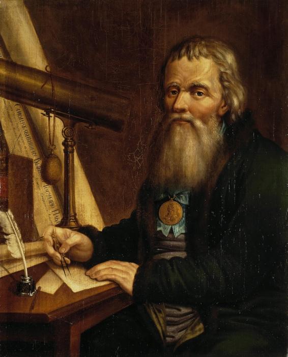 Портрет И. П. Кулибина кисти П. П. Веденецкого (Эрмитаж)