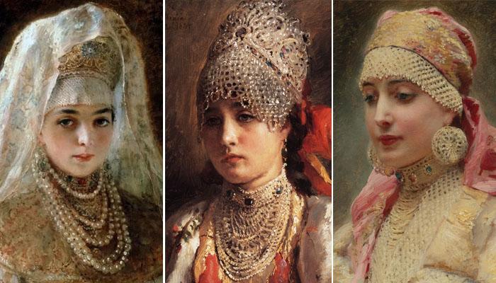 Русские красавицы в жемчугах на портретах Маковского