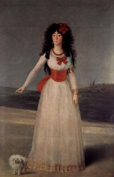 Портрет герцогини Альба работы Гойя, 1797
