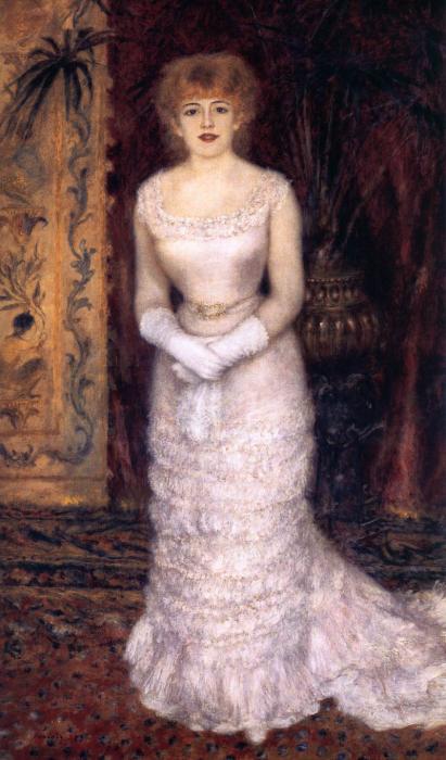 Огюст Ренуар, «Портрет актрисы Жанны Самари» 1878 год, Государственный Эрмитаж